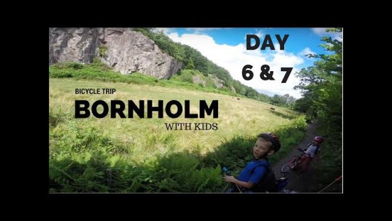 Bornholm rowerem z dziećmi - 6 i 7 Dzień - las Almindingen, ruiny zamków, dolina echa Ekkodalen