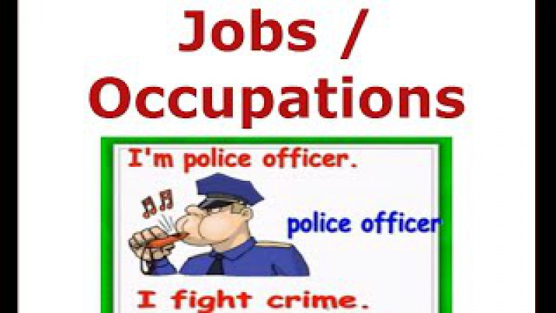 Jobs and Occupations Vocabulary-English for children, ESL Kids Lessons