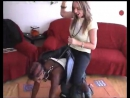 riding a saddled all-fours ponygirl