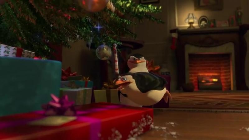 Пингвины из Мадагаскара в рождественских приключениях.