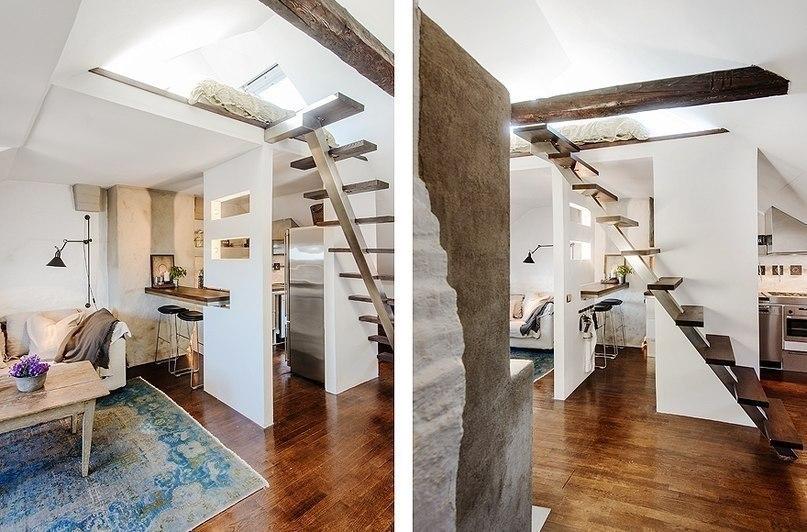 Дизайнерское решение для 40 кв м