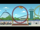Family Guy 16x02 Peter discovers single loop roller coaster