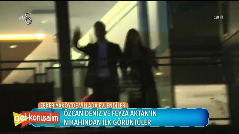 Özcan Deniz ve Feyza Aktanın nikahından ilk görüntüler!