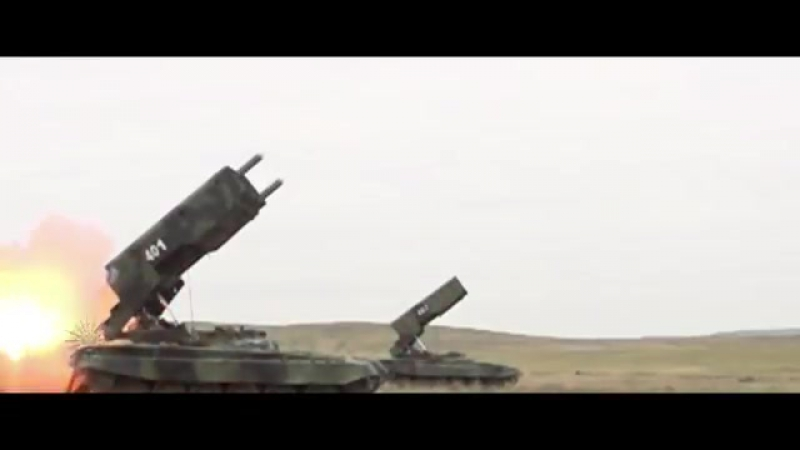 Russian Multiple launch rocket system MLSR Smerch, Uragan, Tornado, Grad, Tos 1