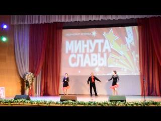 Артур Узеиров, Ирина Гулидова и Лариса Белякова (Шимск) на смотре ветеранов
