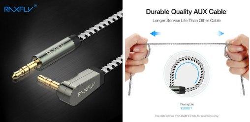 Aux кабель с крепким шнуром