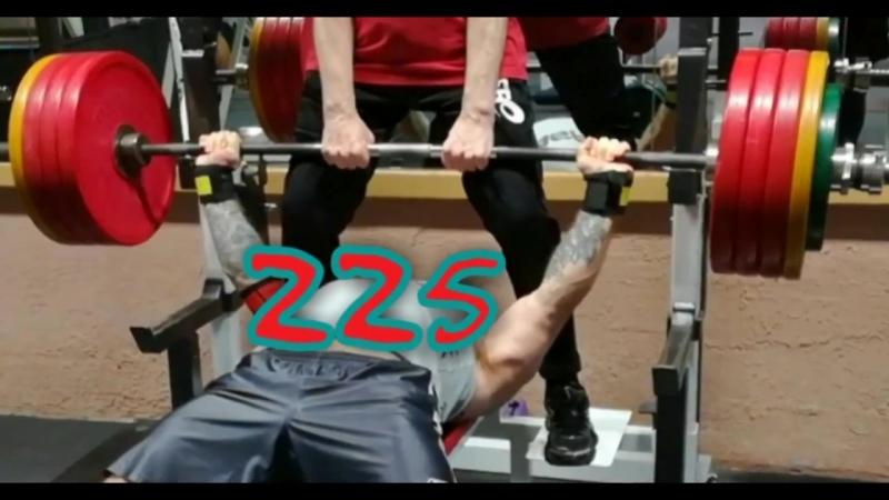 Павел Крейнис - жим 212,5х2 и 225х2 в RT-XXX-WW и Манжетах 2.0