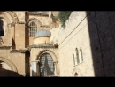 Призыв с минарета к молитве возле Храма Гроба Господня, Иерусалим