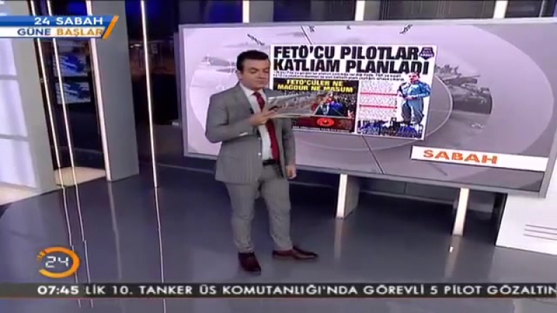 Sabah Gazetesi FETÖcü Pilotlar Katliam Planladı (28.10.2016).mp4