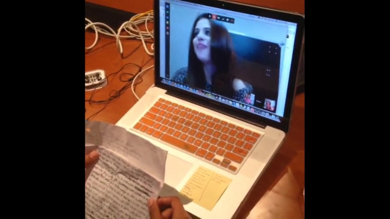 @933flz Our contest winners are video chatting with @selenagomez