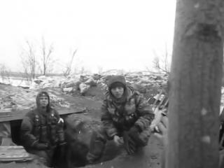 Последние минуты жизни ополченцев. Прилёт снаряда от 122 гаубицы ВСУ точно в окоп