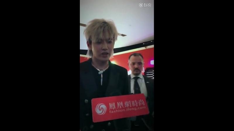 180223 Wu Yi Fan @ Fashion Ifeng Weibo Update