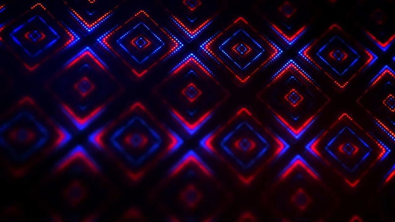 Background Light Stars Festive Lights Red And Blue - Public Domain Video