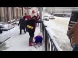 Человек-паук, Бэтмен и Санта (6 sec)