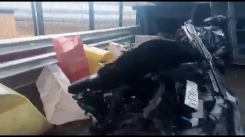 Водитель умудрился выжить после такого