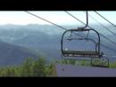 Канатно-кресельный подъемник. Смотровая площадка с горы Малая Синюха 1012 метров над уровнем моря