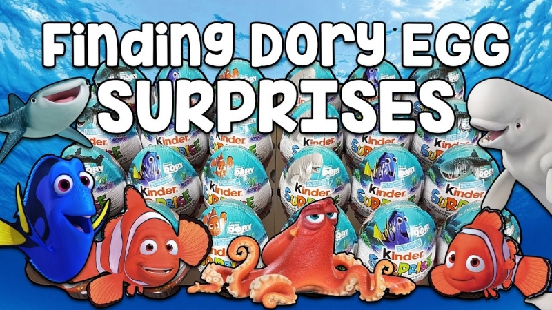 72 Surprise Eggs Kinder Finding Dory Sprinty Cars Mixart Natoons