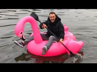 Заплыв на фламинго возле Кремля. Лера получила машину.