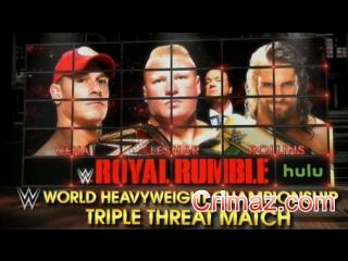 #WH_Present Brock Lesnar vs John Cena vs Seth Rollins - WWE Royal Rumble 2015 Highlight