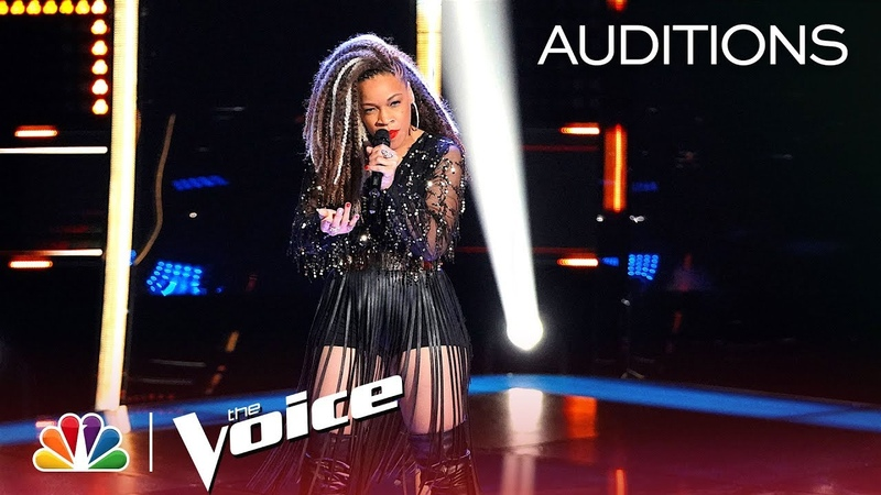 SandyRedd Gets Four Turns with Bishop Briggs' River The Voice 2018 Blind Auditions