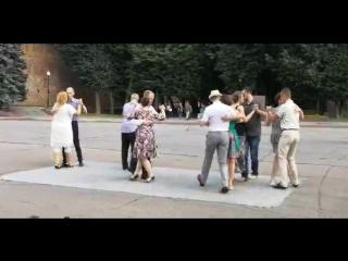 Школа «В ритме танго». Флешмоб.