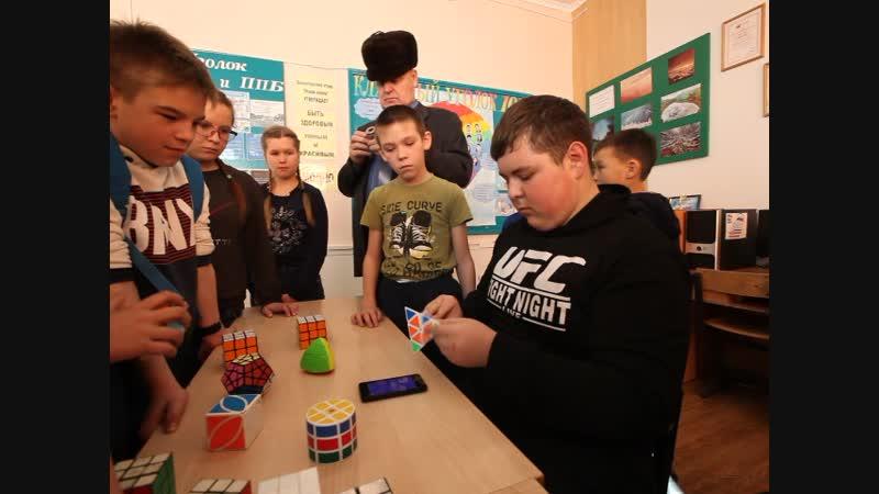 Мастерская Головоломки клуба Интеллект на районном фестивале Наука 0. Фрагмент 1.