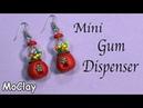 Mini Gumball dispenser Diy earrings Polymer clay tutorial