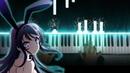 Seishun Buta Yarou wa Bunny Girl Senpai no Yume wo Minai ED Fukashigi no Carte Piano
