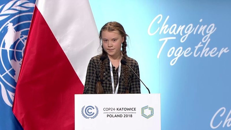 Greta Thunberg full speech at UN Climate Change COP24 Conference