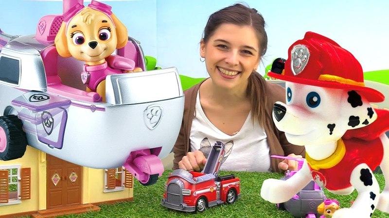 Видео с игрушками Щенячий патруль - Ищем Маршала - Toyclub