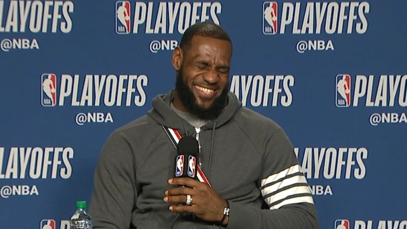 LeBron James Postgame Intervew - Game 2 | Cavaliers vs Raptors | May 3, 2018 | 2018 NBA Playoffs