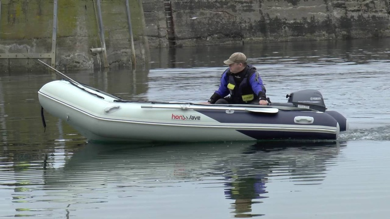 Yamaha 9.9 Outboard and Honda Honwave T38 Inflatable Boat - St Abbs