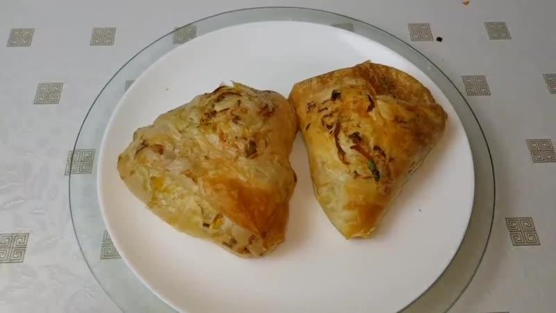 Постные Плацинды из вытяжного теста,😍 цыганка готовит. Тесто Фило.Gipsy cuisine