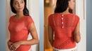 Летние блузы кофточки топы спицами со схемами Вязание Knitting Knitted Diy
