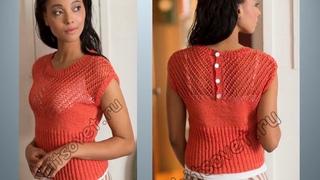 Летние блузы, кофточки, топы спицами со схемами. Вязание. Knitting  Knitted  Diy
