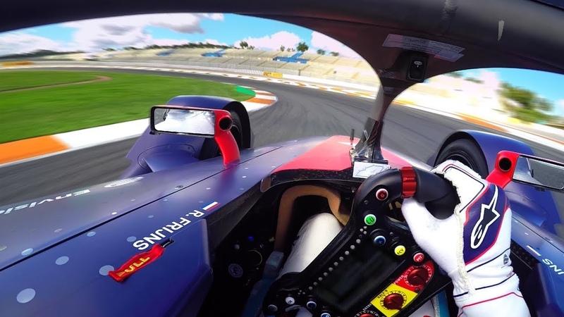 Формула Е. Онборд круг болида Gen2 с тестов в Валенсии