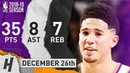 Devin Booker Full Highlights Suns vs Magic 2018.12.26 - 35 Pts, 8 Ast,  Rebounds!