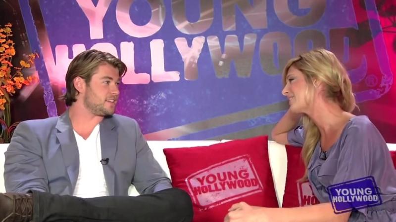 Fist pumpin with thor hunk Chris Hemsworth