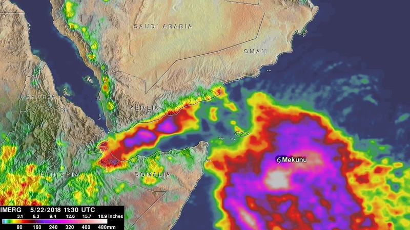 NASA Analyzes No. Indian Ocean Rainfall of Soaking Separate Cyclones