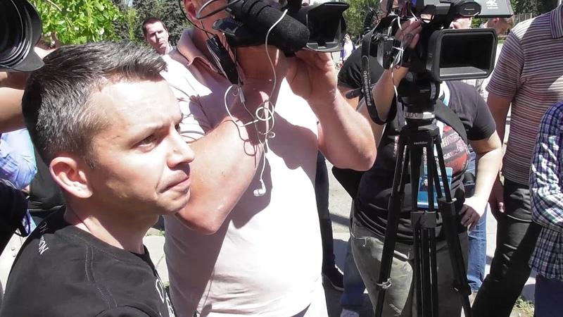 Интервью у главаря ультра-правой банды Уличный фронт Демьяна Ганула (Одесса, 2 мая 2018)