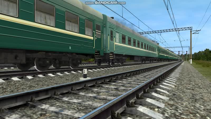 ВЛ10-541 с пассажирским поездом №143 Москва - Евпатория проследует станцию Мачихино