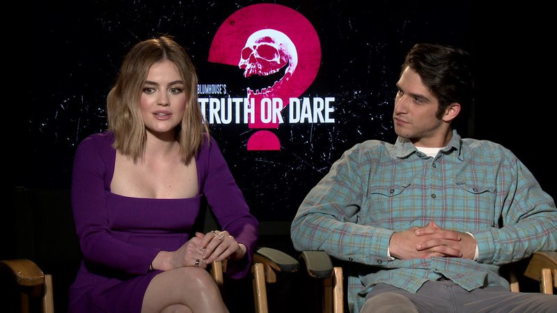 Blumhouse's Truth or Dare || Lucy Hale Tyler Posey Junket Soundbites || SocialNews.XYZ