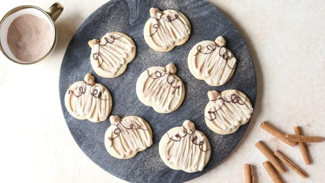 Cinnamon Spiced Sugar Cookies with Browned Butter Frosting