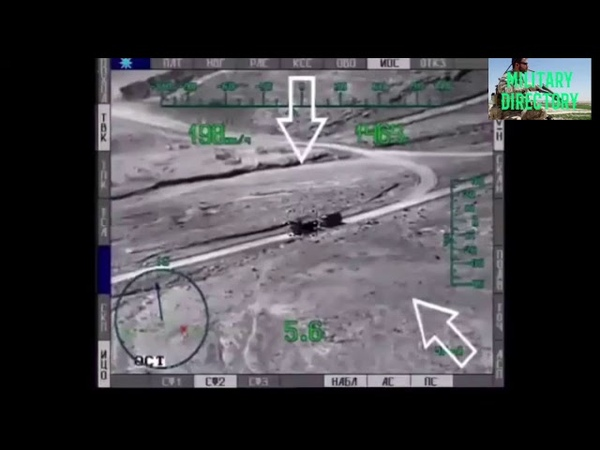 Compilation Russian air force combat helicopters Ka-52 and Mi-28 destroy ISIS armored vehicles