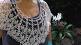 Primaveral y Glamoroso cuello de encaje a crochet. Parte 2 Final.