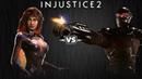 Injustice 2 Старфаер против Дедшота Intros Clashes rus