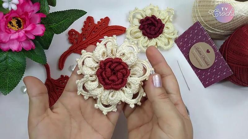 Flor Maravilhosa de Crochê Irlandês