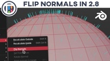 Blender 2.8 Eevee Tutorial - How to Flip Normals in Blender 2.8