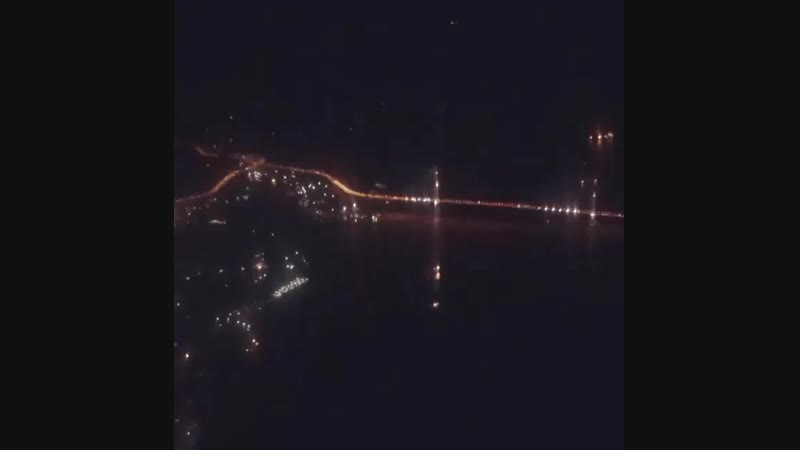 Ночной Владивосток на высоте 1500 метров