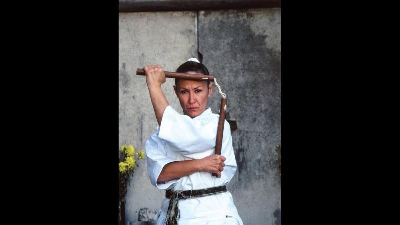 Katherine Loukopoulos offers a tour inside Goju Ryu Karate Kobudo Dojo of Uehara Ko Sensei (1991)